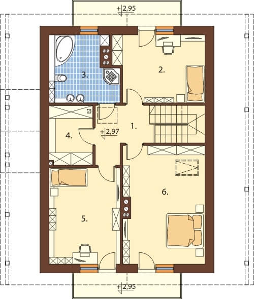 Projekt domu L-6602 - rzut