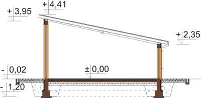 Projekt LZG-97 - przekrój