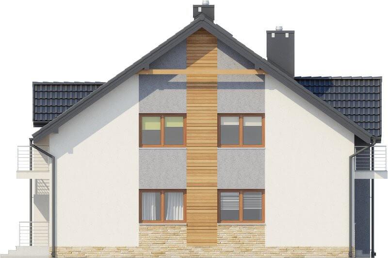 Projekt domu L-6605 - elewacja