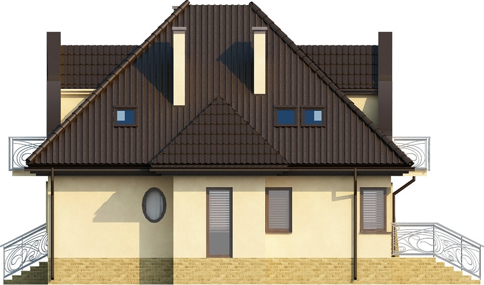 Projekt domu DM-6219 - elewacja