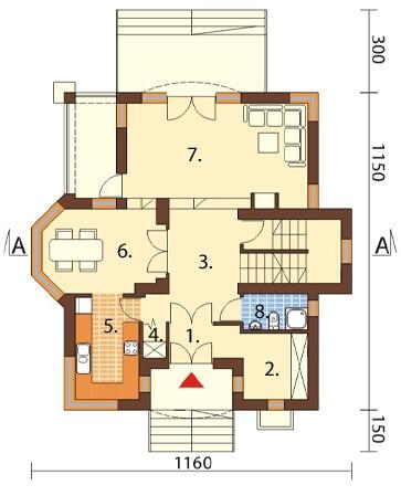 Projekt domu DM-6219 - rzut