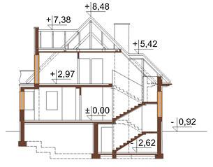 Projekt domu DM-6219 - przekrój