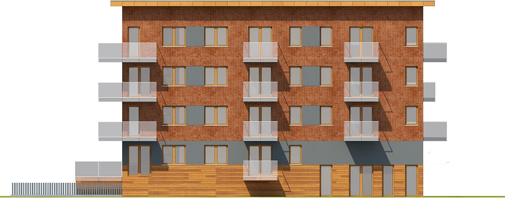 Projekt domu DM-6600 - elewacja
