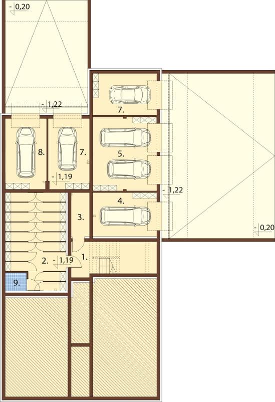 Projekt domu DM-6600 - rzut