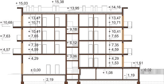 Projekt domu DM-6600 - przekrój