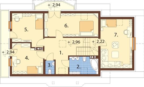 Projekt domu DM-6610 - rzut