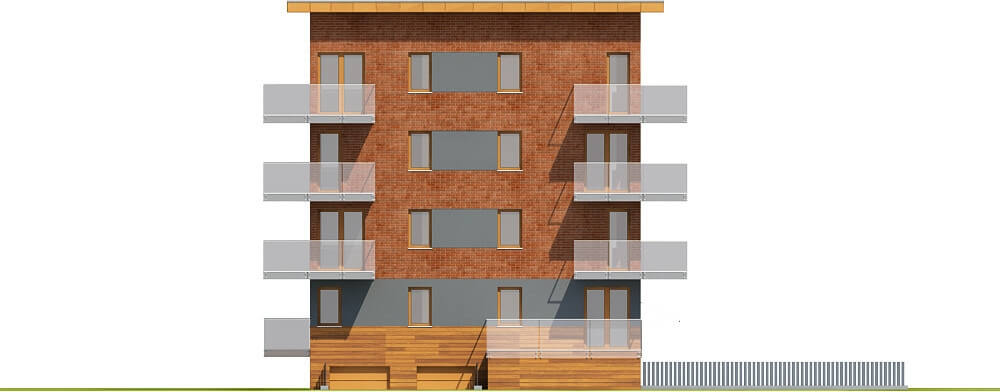 Projekt domu L-6600 - elewacja