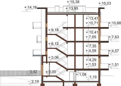 Projekt domu L-6600 - przekrój