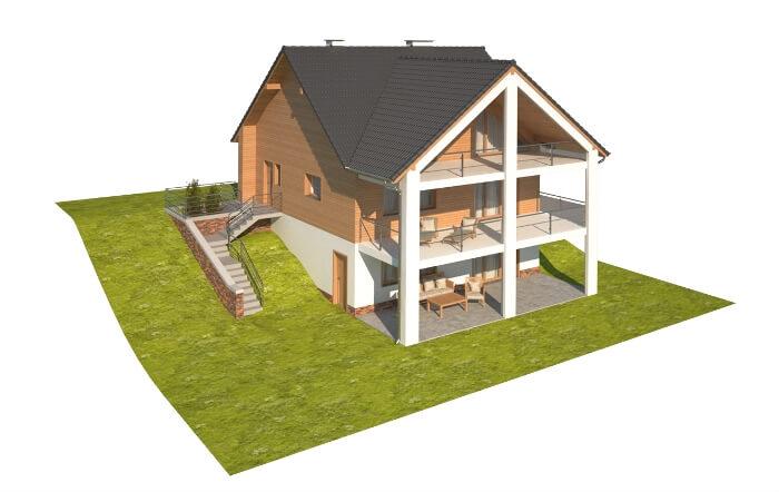 Projekt domu DM-6611 - model