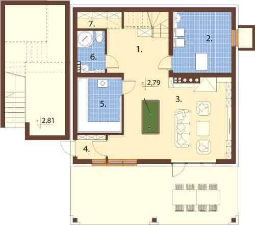 Projekt domu DM-6611 - rzut