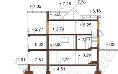 Projekt domu DM-6611 - przekrój
