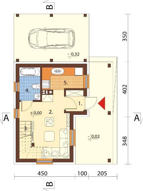 Projekt domu DM-6609 - rzut
