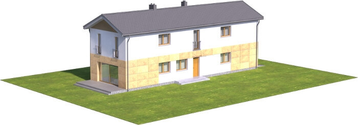 Projekt domu DM-6597 - model