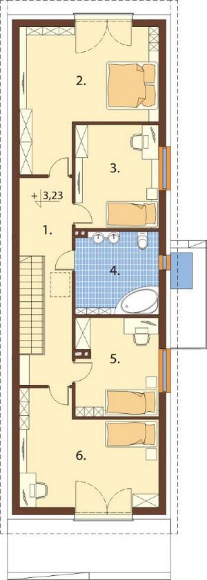 Projekt domu DM-6597 - rzut