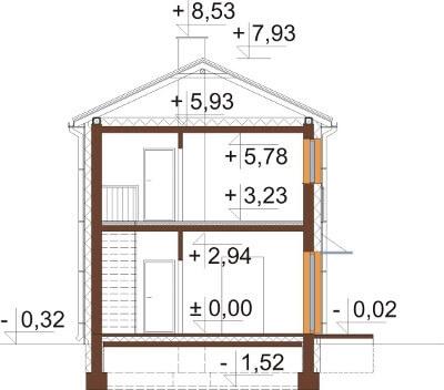 Projekt domu DM-6597 - przekrój