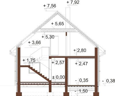 Projekt domu DM-6522 - przekrój