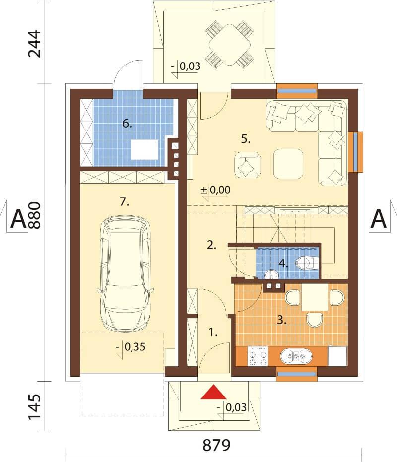 Projekt domu L-6522 - rzut