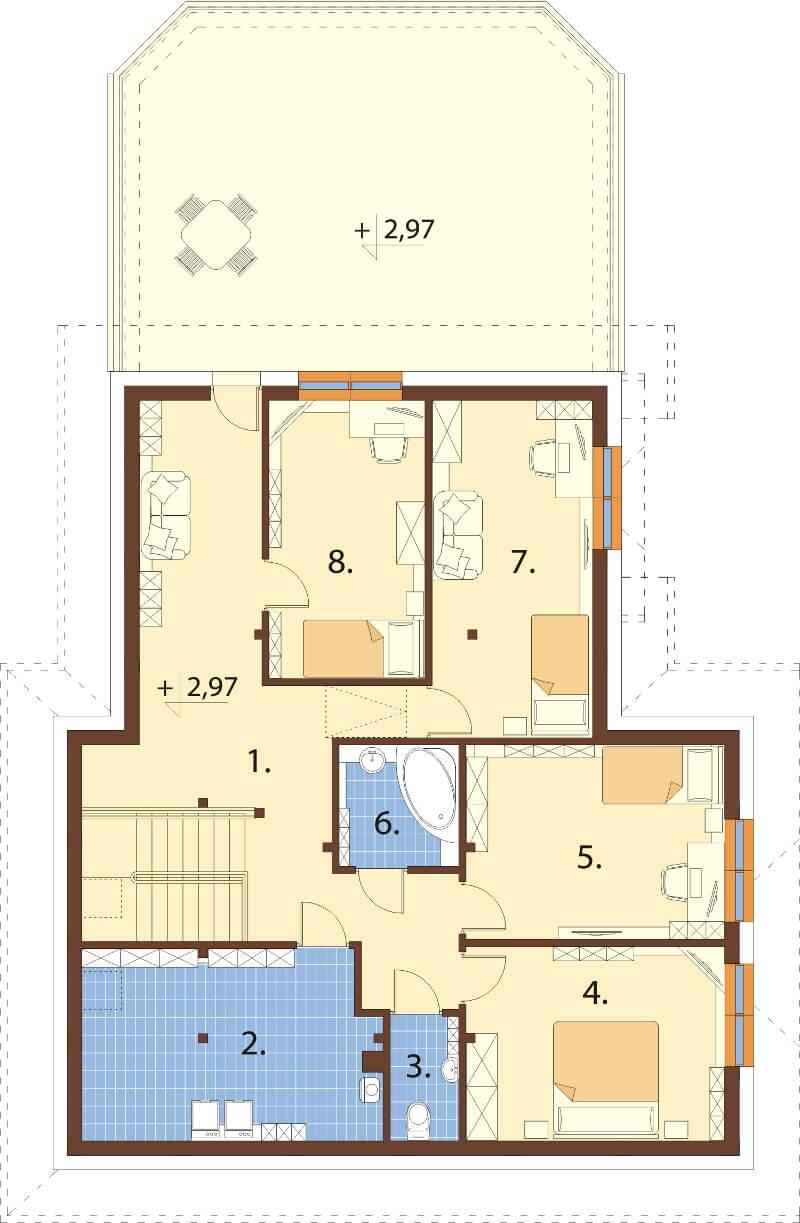 Projekt domu L-6608 - rzut