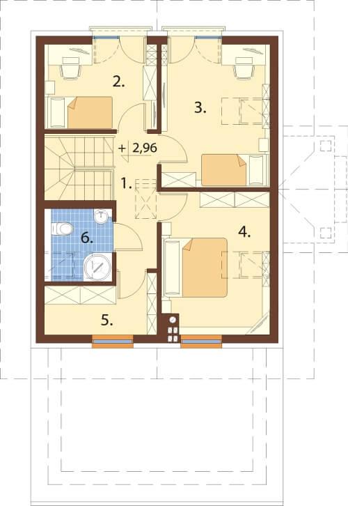 Projekt domu DM-6527 - rzut