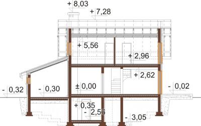 Projekt domu DM-6527 - przekrój