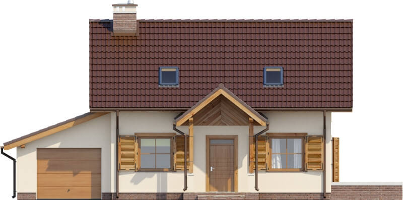 Projekt domu DM-6527 - elewacja