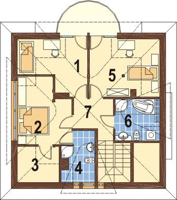 Projekt domu DM-6221 - rzut