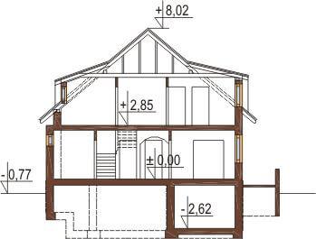 Projekt domu DM-6221 - przekrój