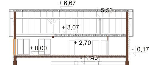 Projekt domu DM-6615 - przekrój