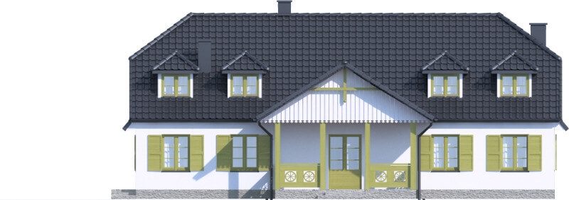 Projekt domu DM-6601 - elewacja
