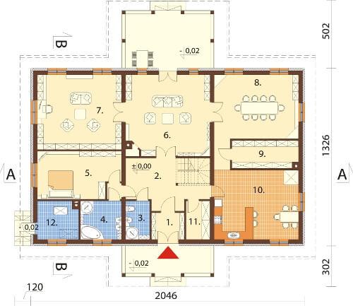 Projekt domu DM-6601 - rzut