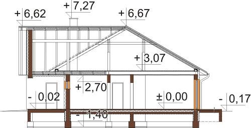 Projekt domu L-6615 - przekrój