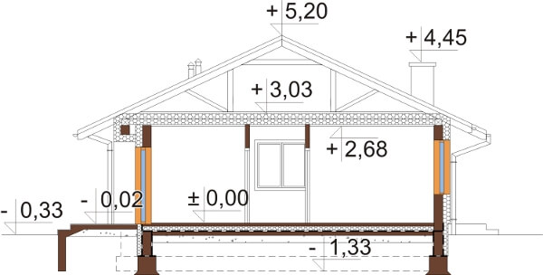 Projekt domu DM-6616 - przekrój