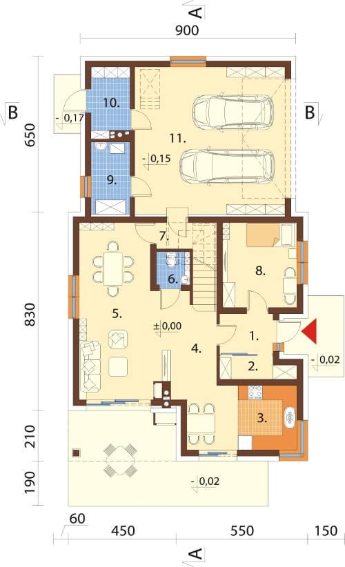 Projekt domu DM-6524 - rzut