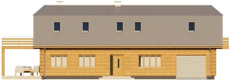 Projekt domu DM-6606 - elewacja