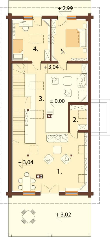 Projekt domu DM-6606 - rzut