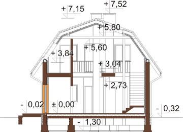 Projekt domu DM-6606 - przekrój