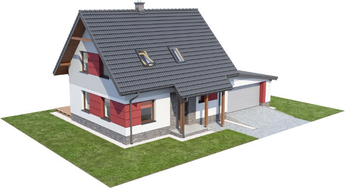Projekt domu DM-6525 - model