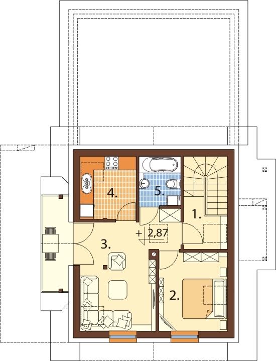 Projekt domu DM-6525 - rzut