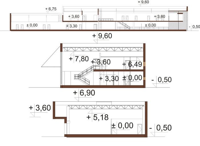 Projekt LK-106 - przekrój