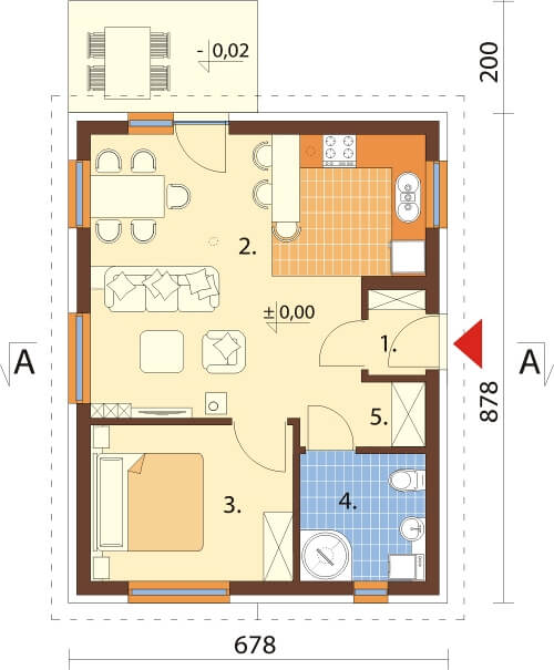 Projekt domu DM-6632 - rzut