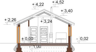 Projekt domu DM-6632 - przekrój