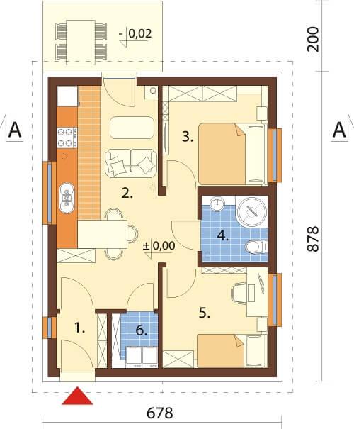 Projekt domu DM-6634 - rzut