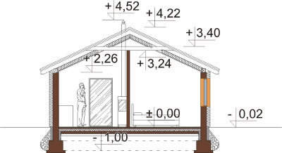 Projekt domu DM-6634 - przekrój