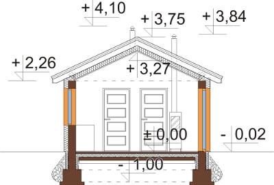 Projekt domu DM-6633 - przekrój