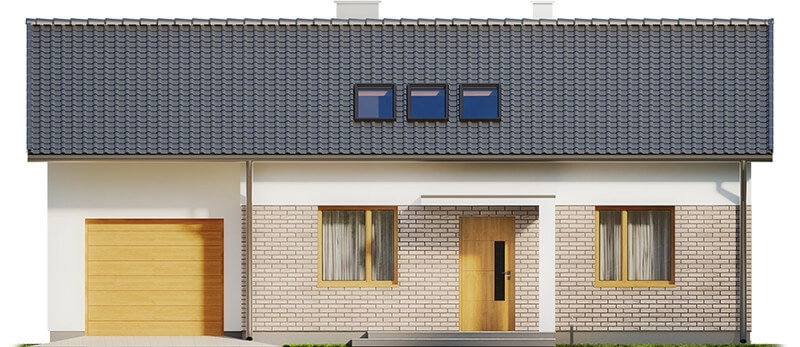 Projekt domu DM-6619 - elewacja