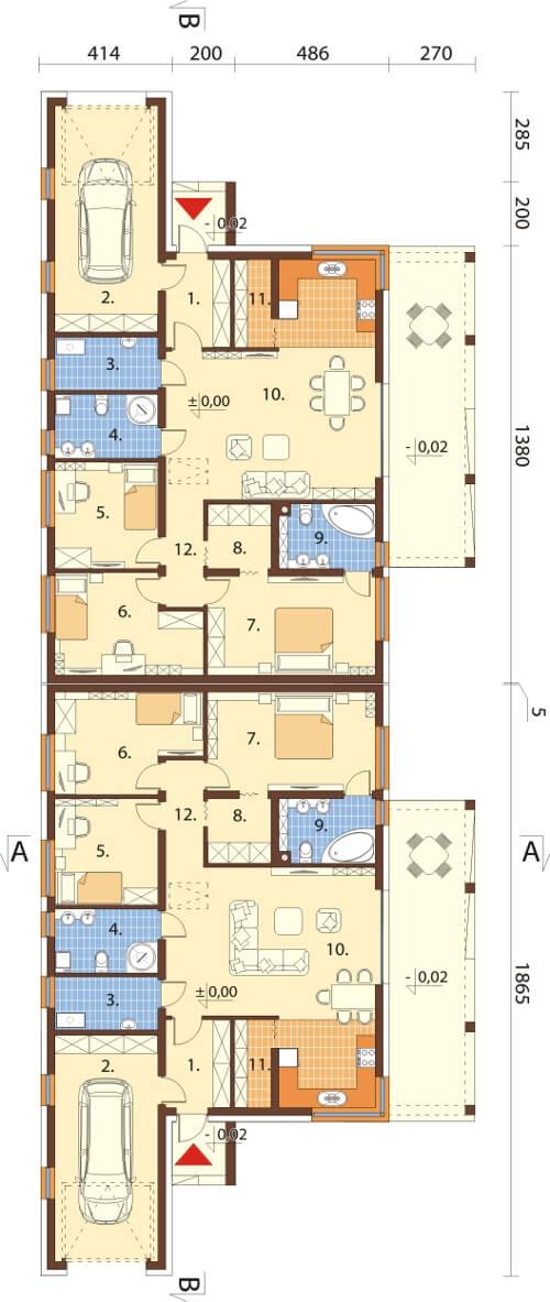Projekt domu DM-6526 - rzut