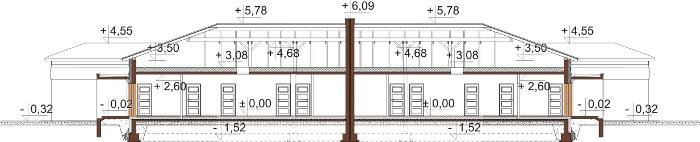 Projekt domu DM-6526 - przekrój
