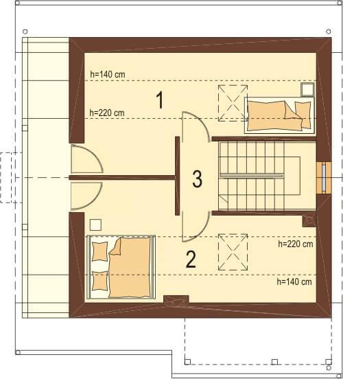 Projekt domu DM-6223 - rzut
