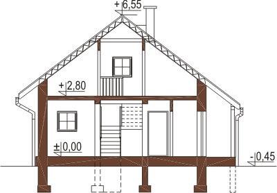 Projekt domu DM-6223 - przekrój