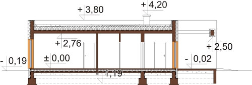Projekt domu DM-6621 - przekrój